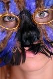 Het Meisje van Gras van Mardi Stock Foto's