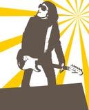 Het meisje van Grunge royalty-vrije illustratie