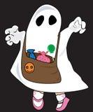 Het meisje van Halloween Stock Foto