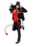 Het Meisje van Halloween van de duivel royalty-vrije illustratie
