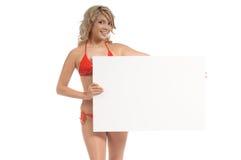 Het Meisje van het aanplakbord Stock Fotografie