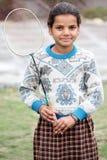 Het meisje van het badminton Stock Foto