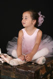Het meisje van het ballet Stock Foto's