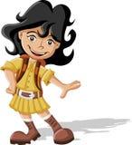 Het meisje van het beeldverhaal vector illustratie