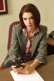Het meisje van het bureau Stock Afbeelding
