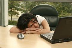Het meisje van het bureau Stock Foto's