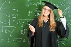 Het meisje van het diploma stock foto's