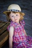 Het meisje van het dorp Stock Afbeelding