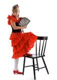 Het Meisje van het flamenco Stock Afbeeldingen