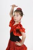 Het Meisje van het flamenco Stock Afbeelding