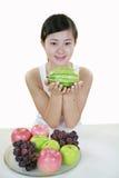 Het meisje van het fruit royalty-vrije stock foto