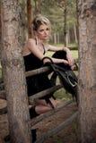 Het meisje van het glamourblonde Stock Fotografie