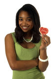 Het Meisje van het Koekje van de valentijnskaart stock afbeeldingen