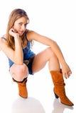 Het meisje van het land Stock Foto