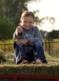 Het Meisje van het landbouwbedrijf Stock Foto's