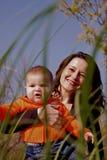 Het meisje van het mamma en van de baby Royalty-vrije Stock Fotografie