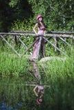 Het meisje van het meer Royalty-vrije Stock Foto