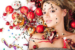 Het meisje van het nieuwjaar Royalty-vrije Stock Fotografie