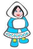 Het meisje van het noorden royalty-vrije illustratie