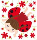 Het meisje van het onzelieveheersbeestje Stock Foto's