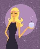 Het meisje van het parfum Stock Foto