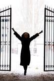 Het meisje van het silhouet Royalty-vrije Stock Afbeelding