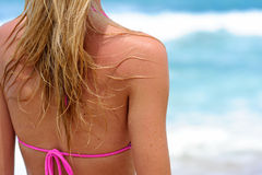 Het meisje van het strand Stock Foto