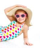 Het meisje van het strand. royalty-vrije stock foto