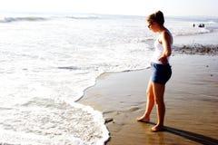 Het Meisje van het strand Stock Fotografie
