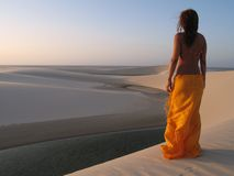 Het meisje van het strand   Royalty-vrije Stock Foto