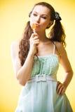 Het meisje van het suikergoed Stock Foto