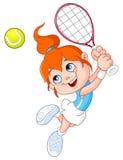 Het meisje van het tennis Stock Fotografie