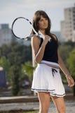 Het meisje van het tennis Royalty-vrije Stock Afbeeldingen