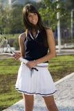 Het meisje van het tennis royalty-vrije stock foto