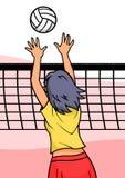 Het Meisje van het volleyball Royalty-vrije Stock Afbeeldingen