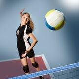 Het meisje van het volleyball Stock Foto