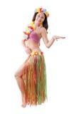 Het meisje van Hula Stock Afbeelding
