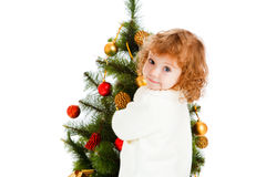 Het meisje van Kerstmis stock foto's