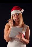 Het meisje van Kerstmis Stock Fotografie
