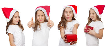 Het meisje van Kerstmis Stock Afbeeldingen