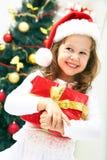 Het meisje van Kerstmis stock afbeelding