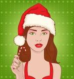Het meisje van Kerstmis vector illustratie