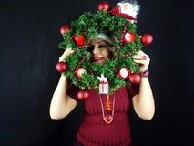 Het meisje van Kerstmis Stock Foto