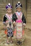 Het meisje van Laos Hmong Stock Foto