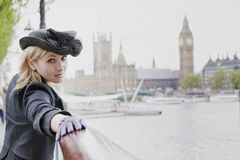 Het meisje van Londen royalty-vrije stock afbeelding