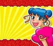 Het meisje van Manga Stock Foto