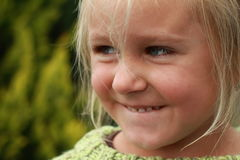 Het meisje van Naughy Stock Afbeeldingen
