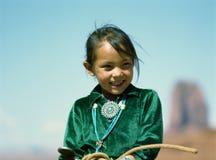 Het Meisje van Navajo Stock Afbeeldingen