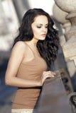 Het meisje van Nice brunete Royalty-vrije Stock Afbeelding