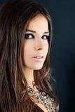 Het meisje van Nice Gezichtsclose-up stock fotografie